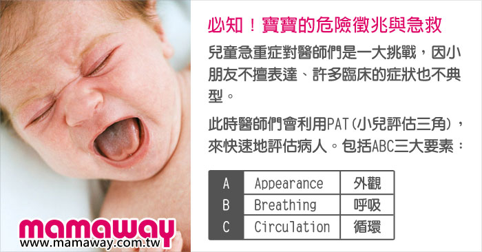 必知!寶寶的危險徵兆與急救