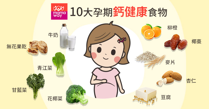 20190830_10大孕期鈣健康食物700