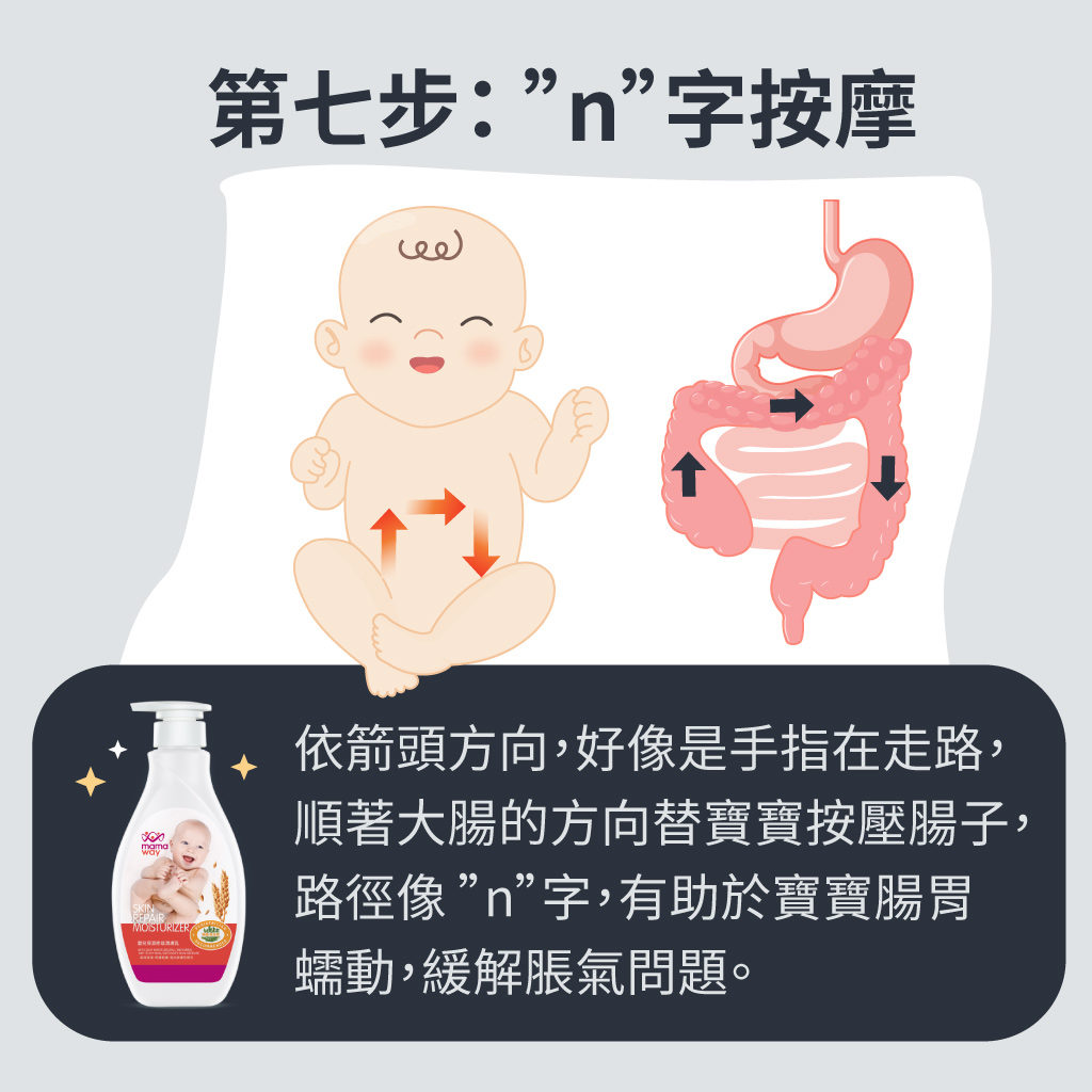 寶寶腸脹氣按摩7