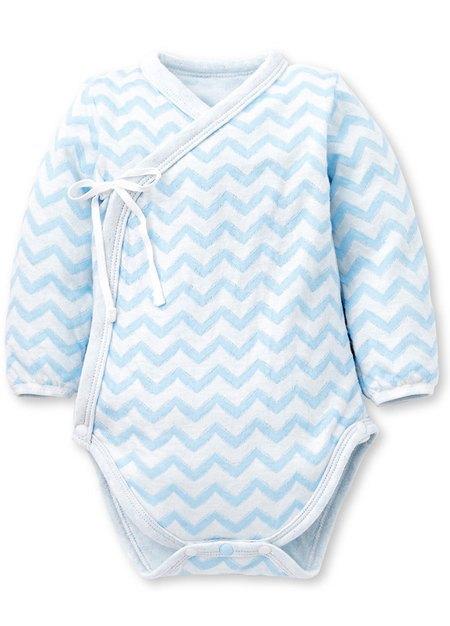 水波紋新生兒內著包屁衣