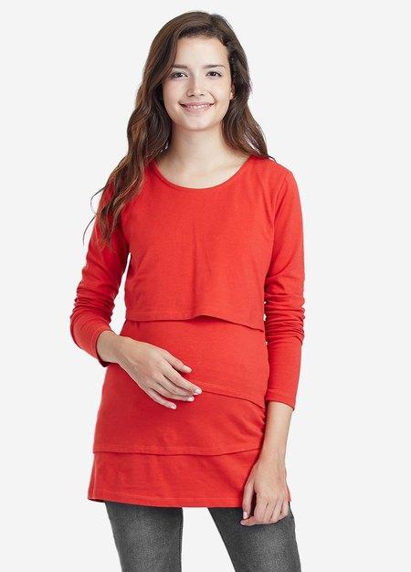 假三層棉質百搭孕婦裝.哺乳衣