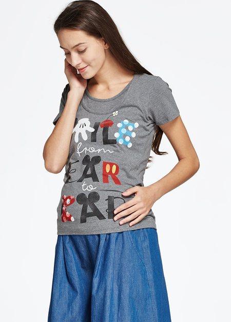 迪士尼手繪風哺乳彈性棉T