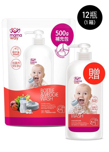 奶瓶蔬果洗潔精(500ml補充包)-12包