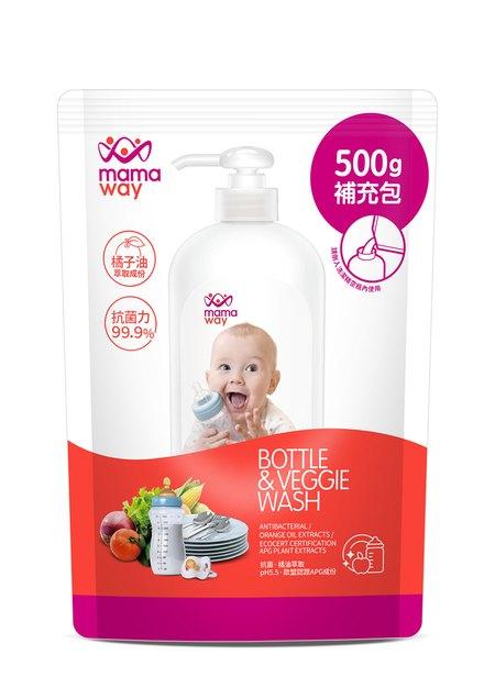 奶瓶蔬果洗潔精(500ml補充包)