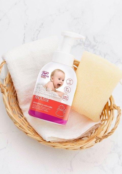 嬰兒抗菌植萃胺基酸2合1洗髮沐浴慕絲