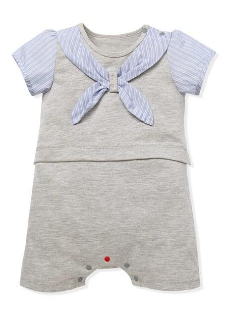 BABY 領巾造型連身包屁衣
