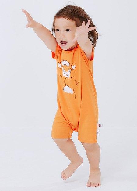 BABY迪士尼Q彈連身包屁衣-跳跳虎