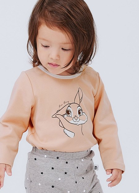 BABY迪士尼純棉長袖包屁衣-邦妮兔