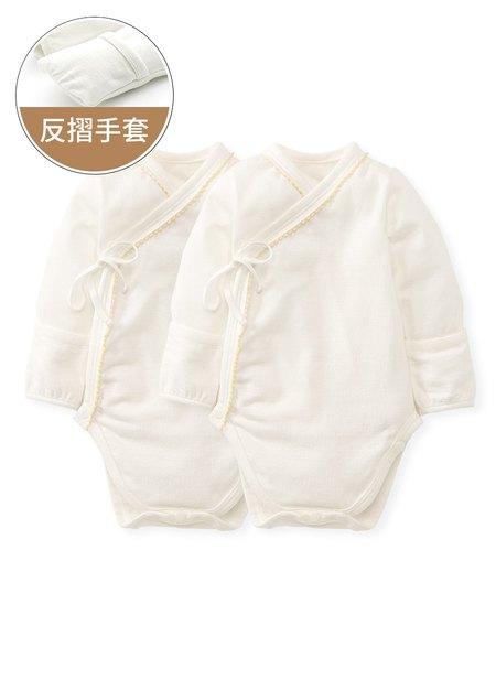新生兒厚版內著包屁衣(二入組)
