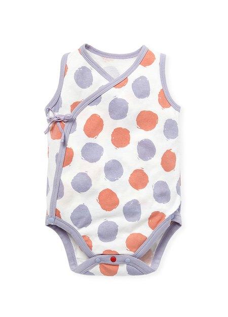 新生兒Q彈棉質無袖包屁衣(2入)-點點/水波紋