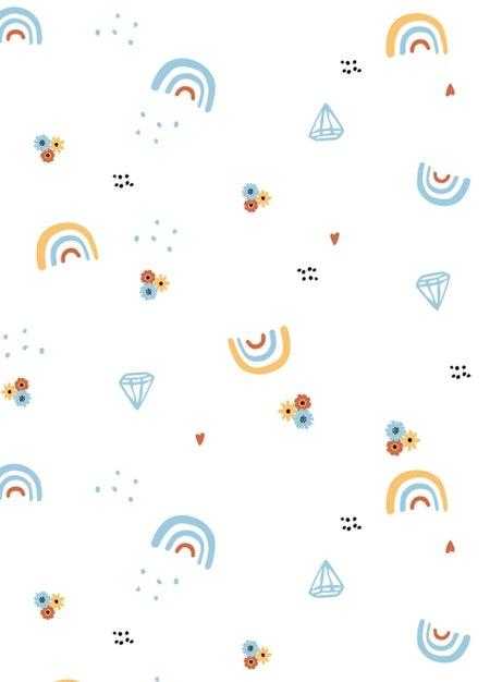 新生兒Q彈棉質無袖包屁衣(2入)-彩虹