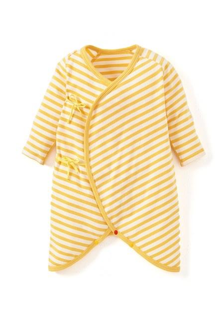 新生兒Q彈棉質蝴蝶衣(2入)-蛋黃
