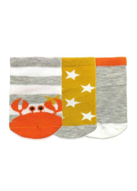 可愛動物新生兒襪(3入)