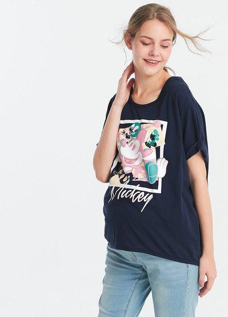 迪士尼繽紛米奇孕哺罩衫