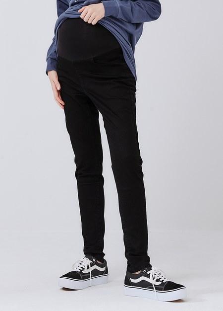 顯瘦修身窄管孕婦褲