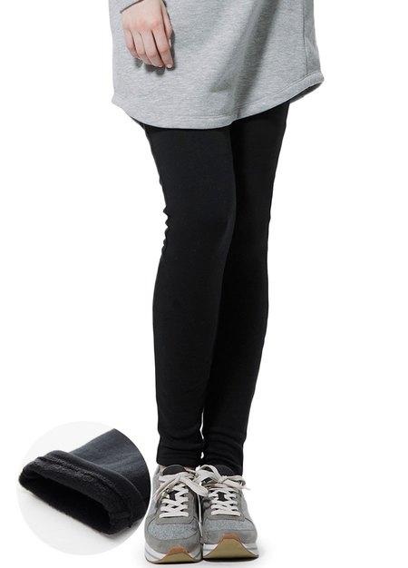 彈力厚刷毛貼腿孕婦褲