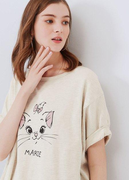 迪士尼瑪麗貓長版孕哺罩衫