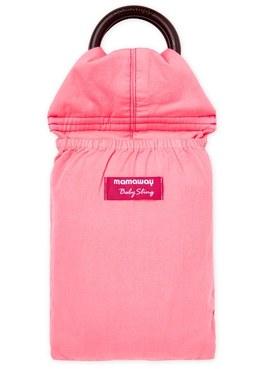 水洗色超柔軟純色育兒背巾(石榴紅)