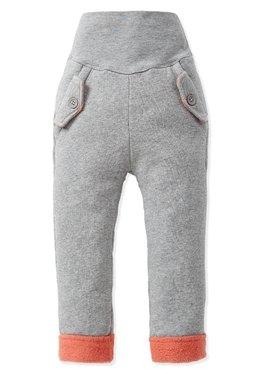 Baby刷毛異色口袋造型護肚褲