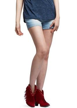 孕期經典水洗牛仔短褲