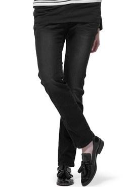 孕期窄管牛仔褲