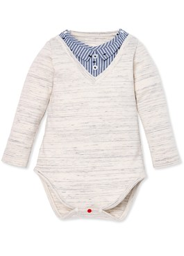 Baby假襯衫包屁衣