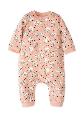 BABY長袖連身衣-點點貓狗