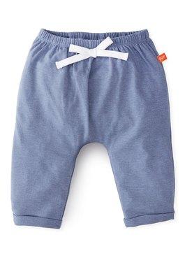 嬰幼兒Q彈純棉反摺長褲-素色/星星