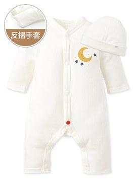 早產兒長袖連身衣(附帽子)