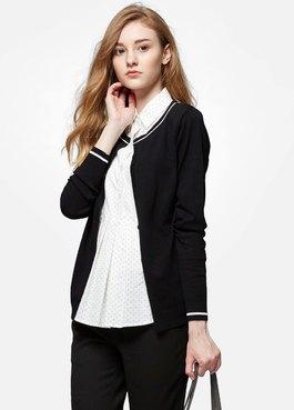 襯衫領針織外套孕哺假2件上衣