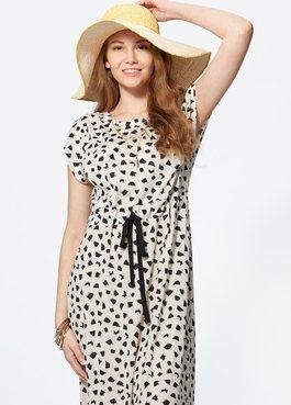 印花長版孕婦洋裝.哺乳洋裝