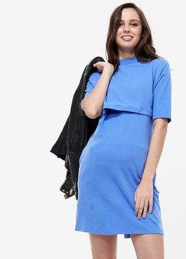 棉質小高領孕哺洋裝