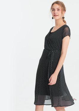 圍裹顯瘦綁帶孕哺洋裝