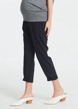 顯瘦反摺上班孕婦褲
