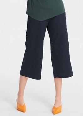 平織寬直筒九分孕婦褲