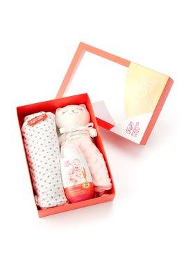 送禮組合│安撫娃娃+蠶寶寶包巾+乳液(200ml)