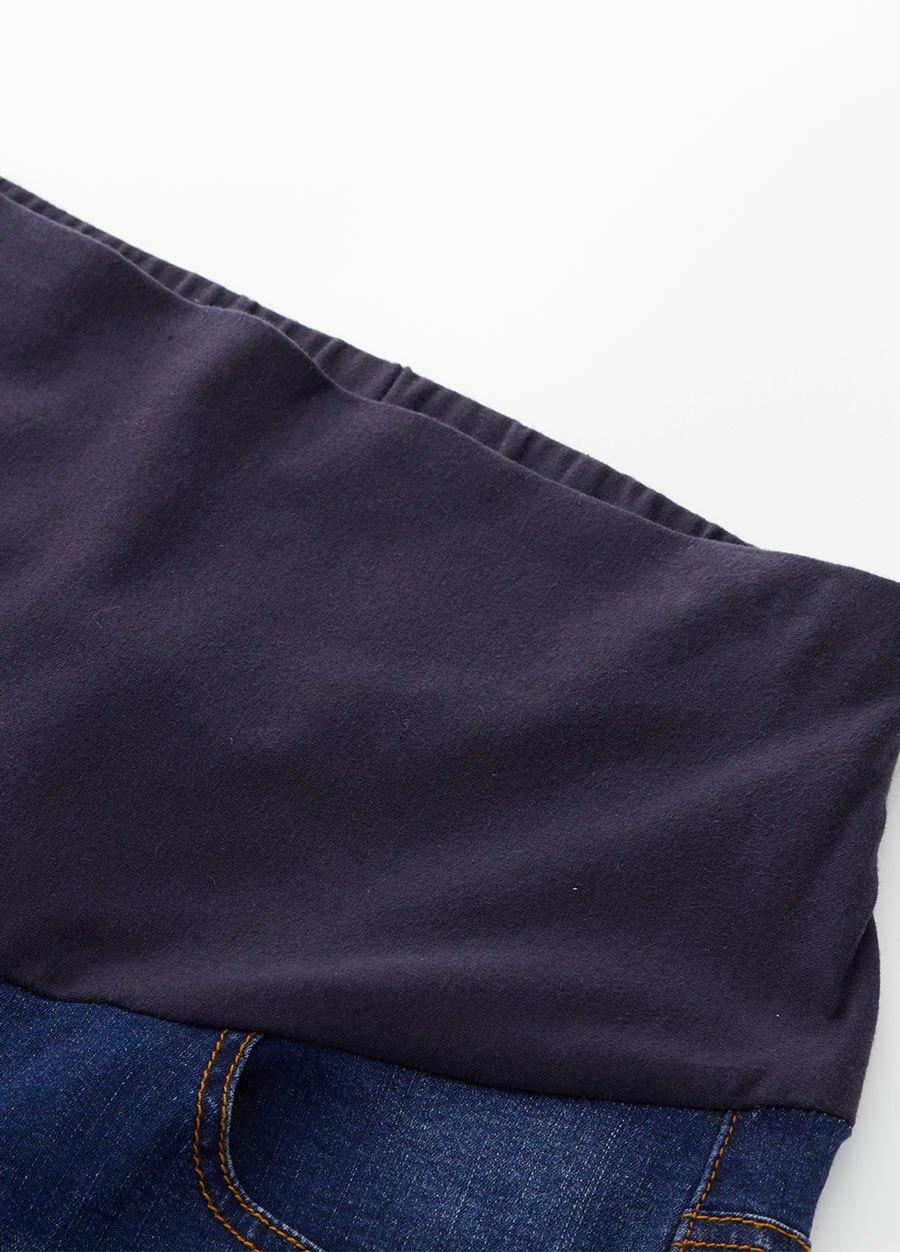 刷白窄管牛仔孕婦褲