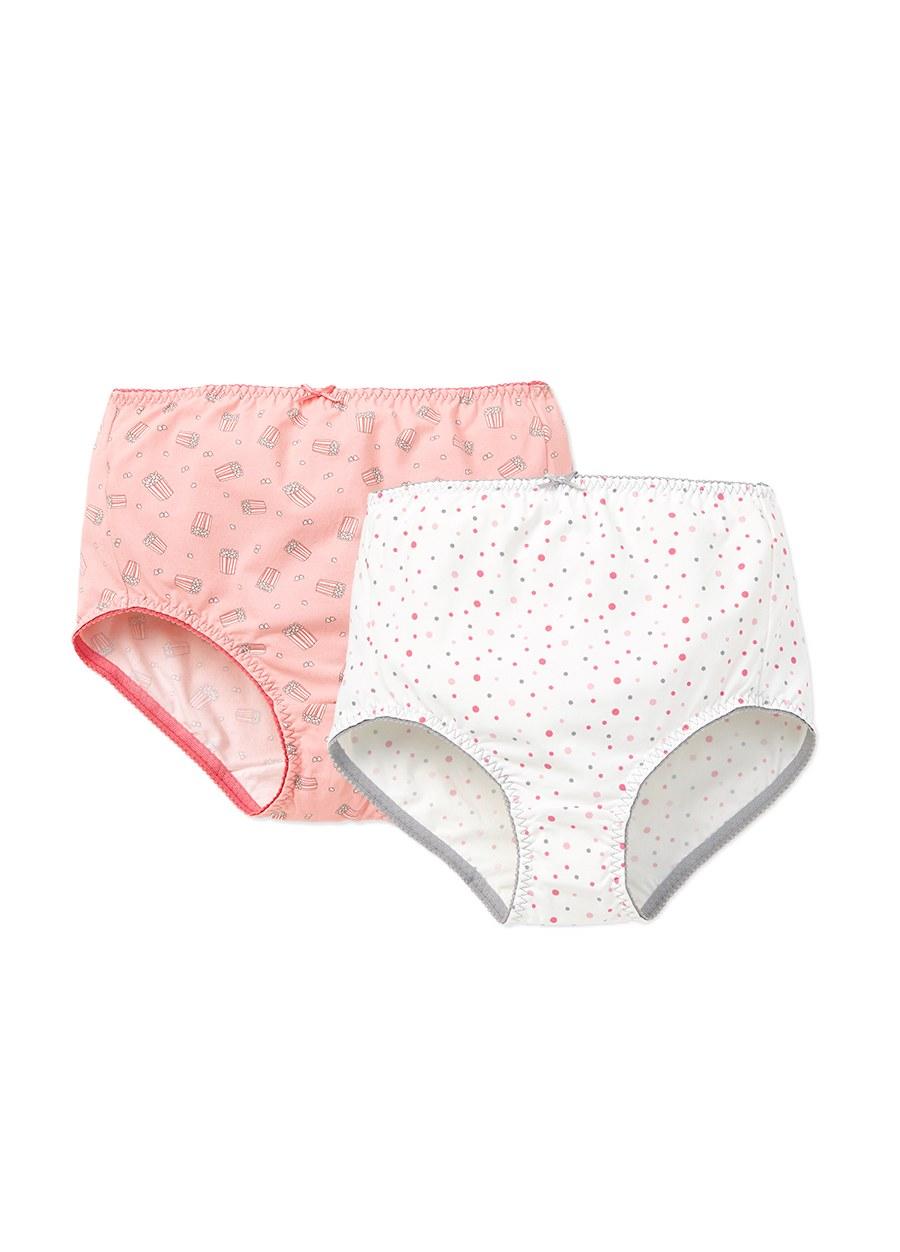 MERYL抗菌孕婦印花中高腰內褲(2入組)