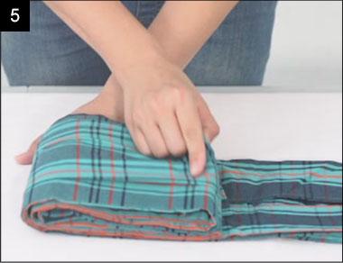 揹巾收納教學