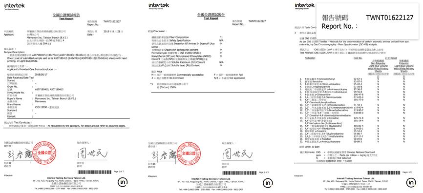 Textile conformity inspection