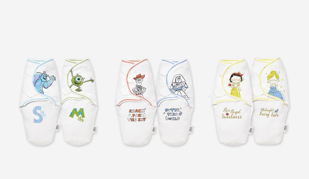 迪士尼系列 蠶寶寶2入包巾組