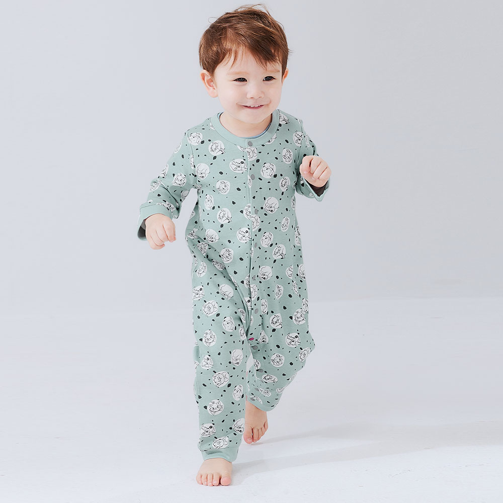 BABY Long Sleeve Jumpsuit-Little Cat and Dog