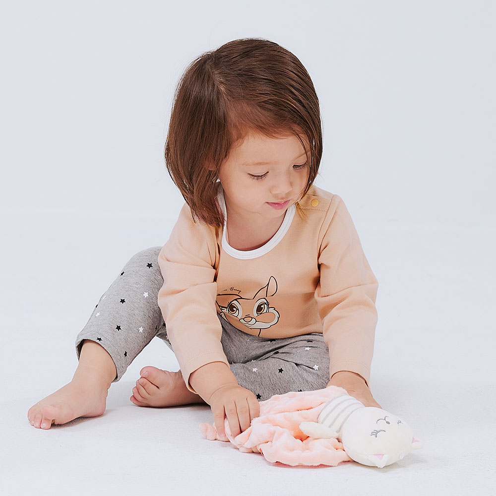 BABY 迪士尼純棉長袖包屁衣-邦妮兔