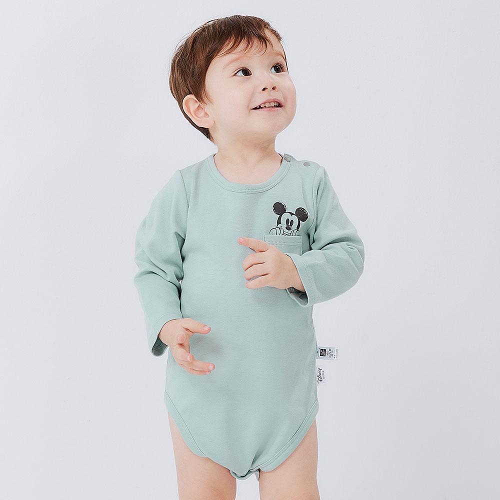 BABY 迪士尼純棉長袖包屁衣-米奇