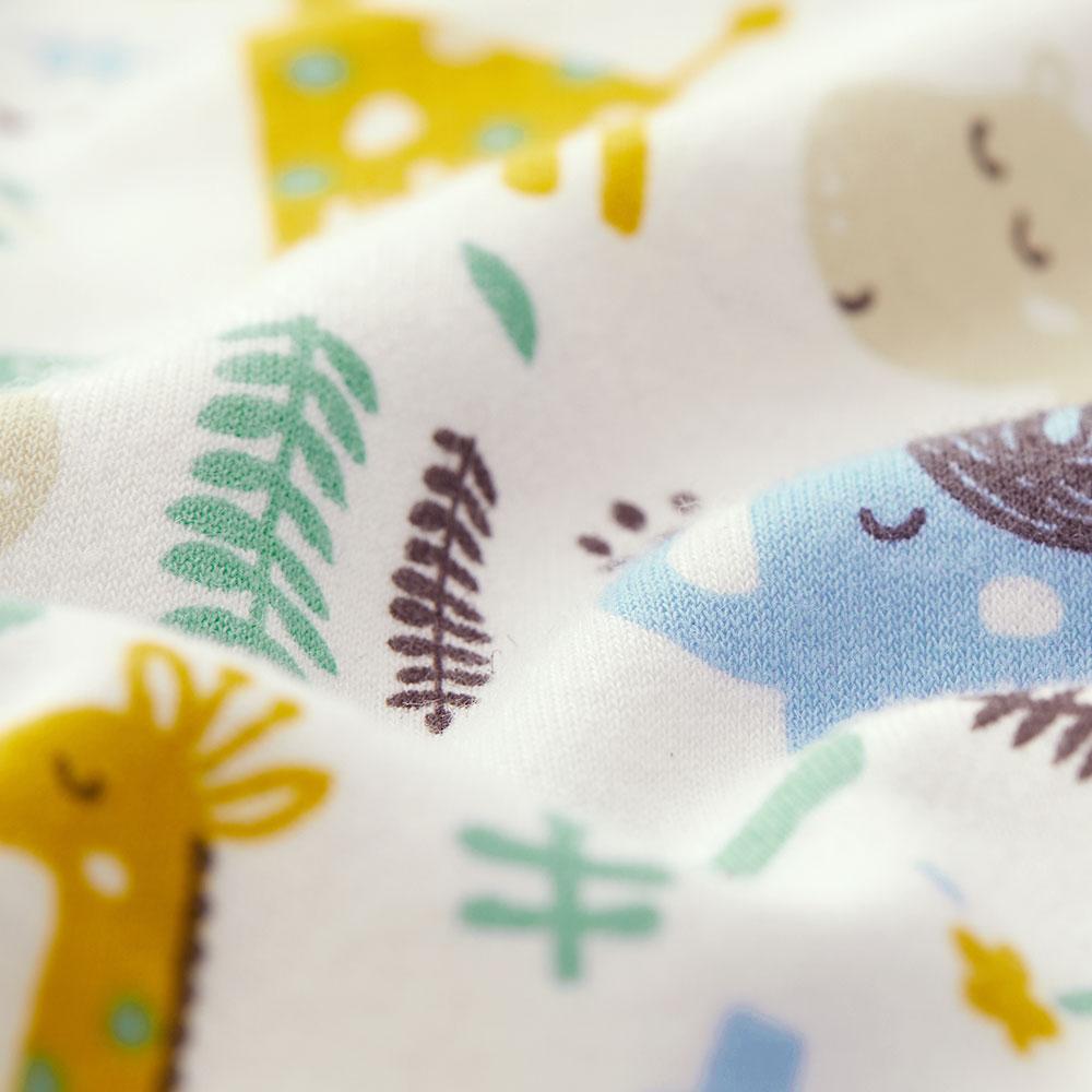 Newborn Long Sleeve Jumpsuit-Zoo/Tropical Rainforest