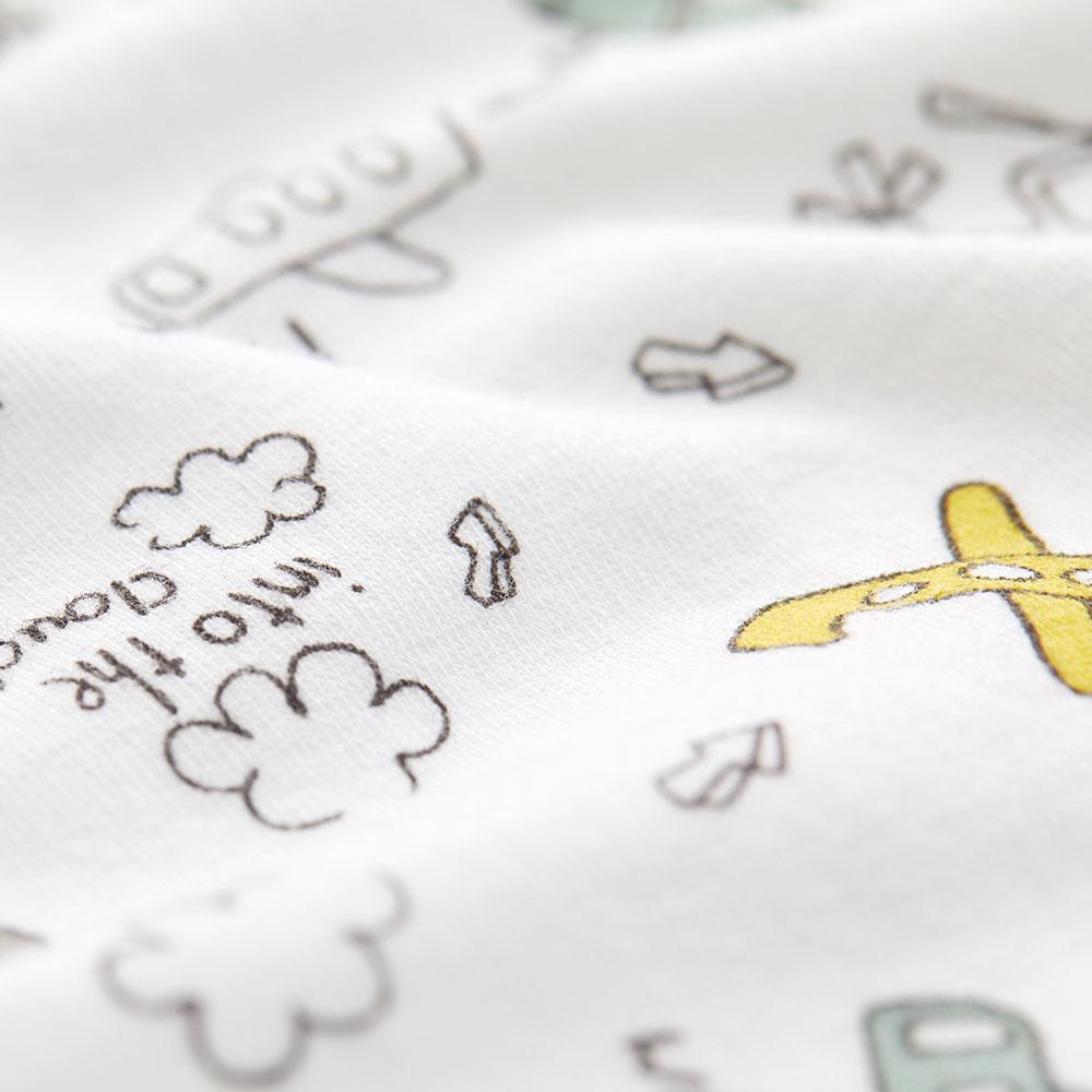 新生兒 長袖連身衣-飛機