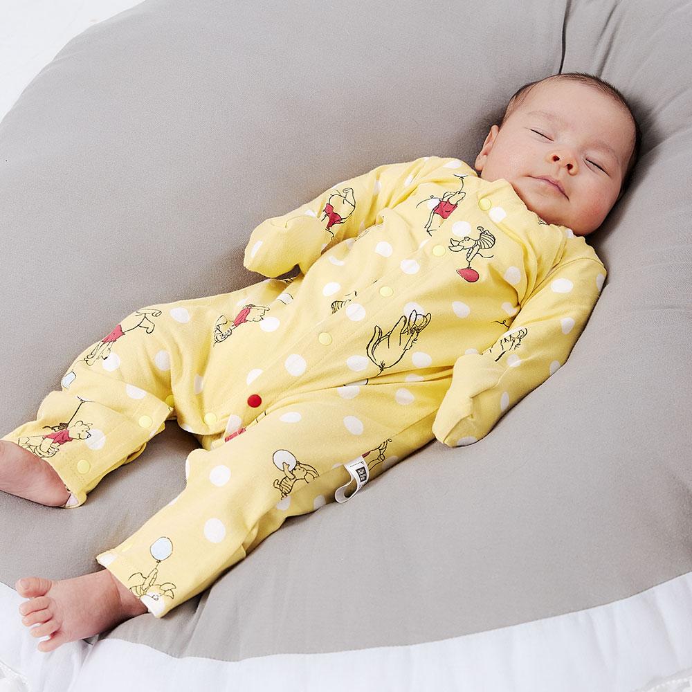 新生兒 迪士尼維尼長袖連身衣