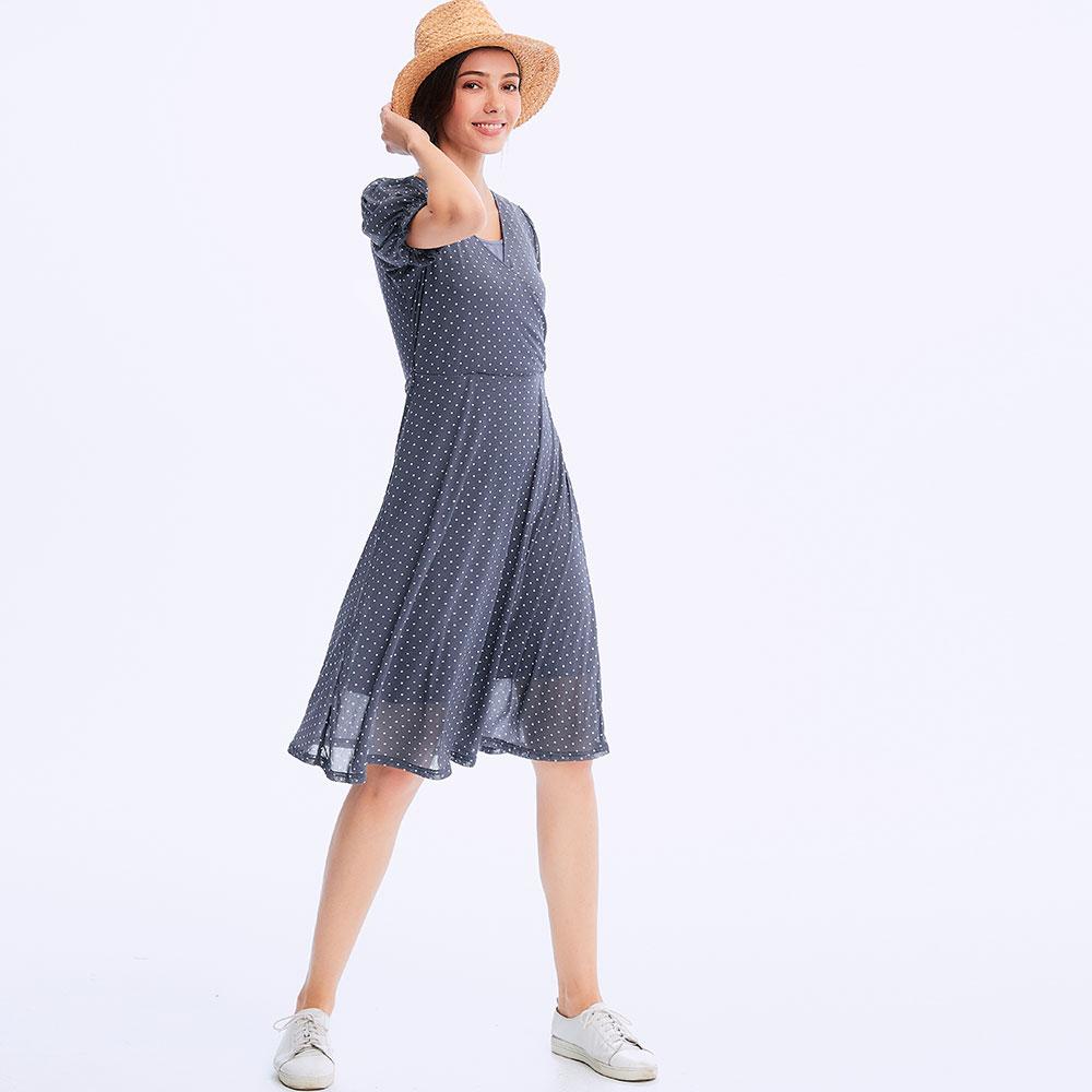 拋拋袖綁帶孕哺洋裝