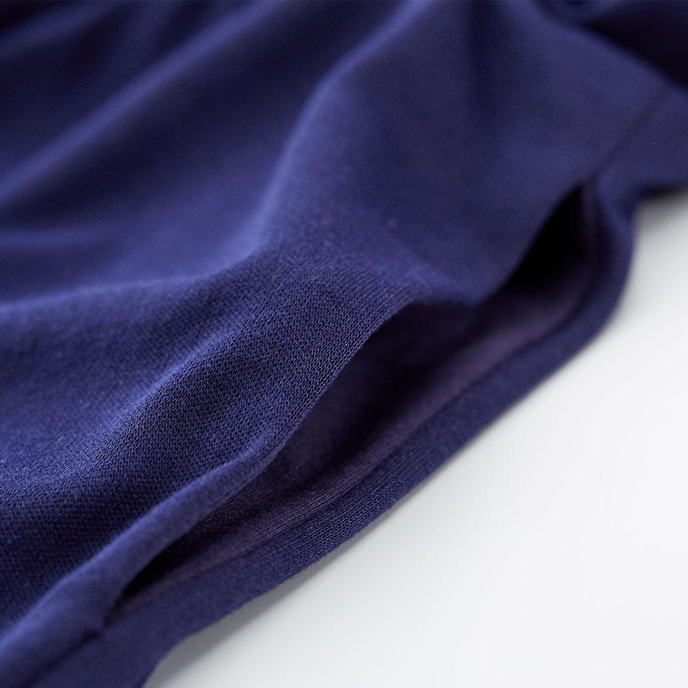簡約風荷葉袖孕哺洋裝