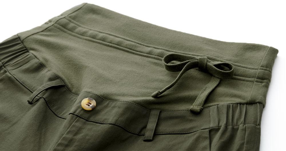 寬管平織孕婦褲